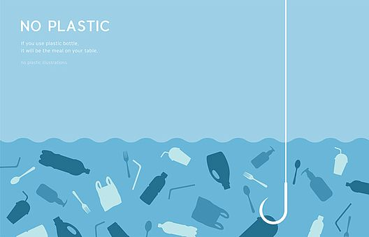 Marine recycled plastic materials